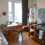 Kitchen in victorian town house for sale in llanidloes, WALES