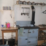 kitchen in cottage for sale near Brecon beacons, wales