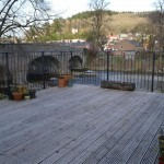 patio overlooking the river severn Llanidloes