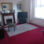 Living room in 4 bedroom property for sale Llanidloes, Mid Wales