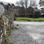 Private parking area for 4 cars in llanidloes powys mid wales